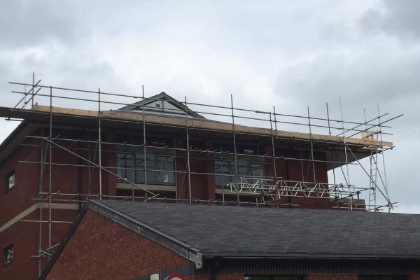 Roof Repair Scaffolding St Albans Hospital 01582 840986