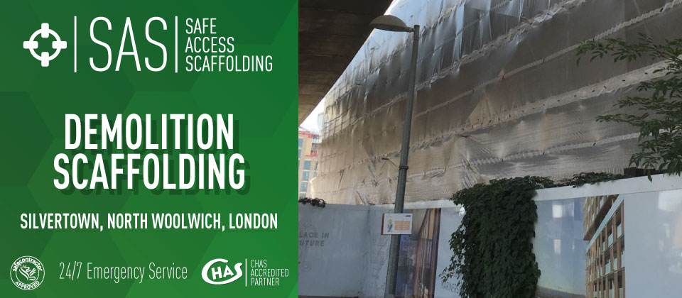 Demolition Scaffolding at Woolwich, London