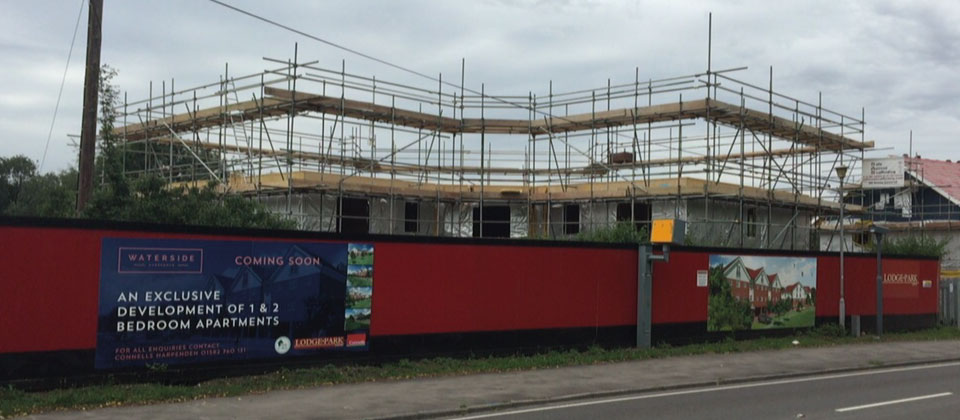 Timber Frame Development Site Scaffolding, Harpenden